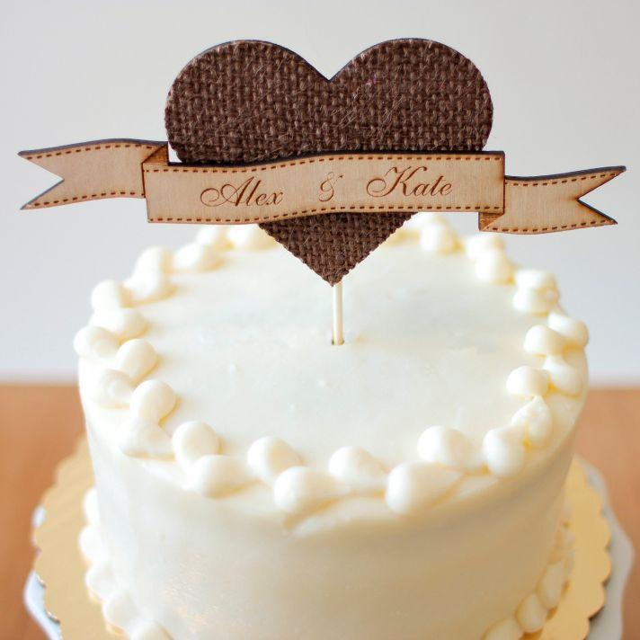 adorable wedding cake toppers handmade wedding Etsy rustic wedding