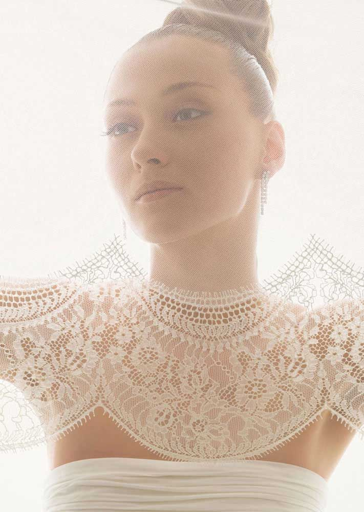 romantic bridal veils by rosa clara sheer net scalloped lace
