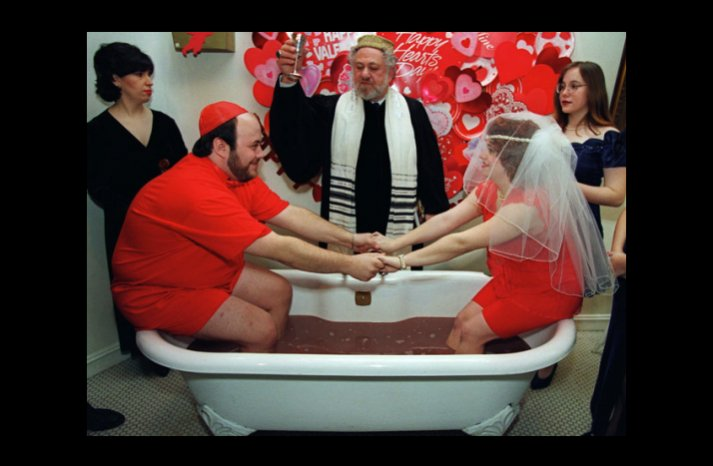 wacky wedding photos weird crazy weddings friday the 13th chocolate milk vows