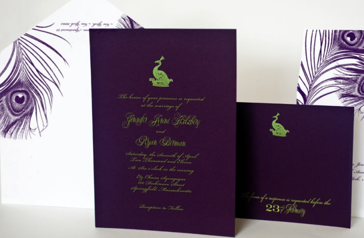purple lime green wedding invitations