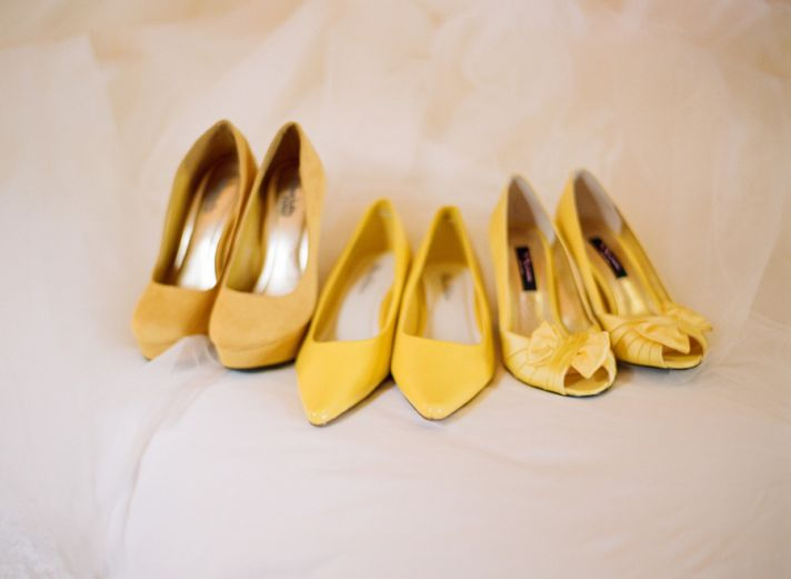 lemon yellow wedding shoes