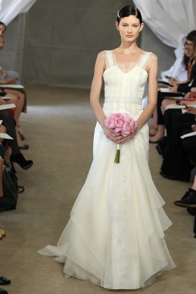 Spring 2013 bridal gowns Carolina Herrera wedding dress ivory vintage inspired straps
