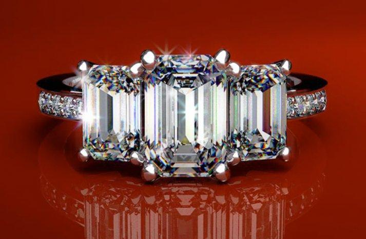 angelina jolie engagement ring emerald cut diamond engagement rings james allen