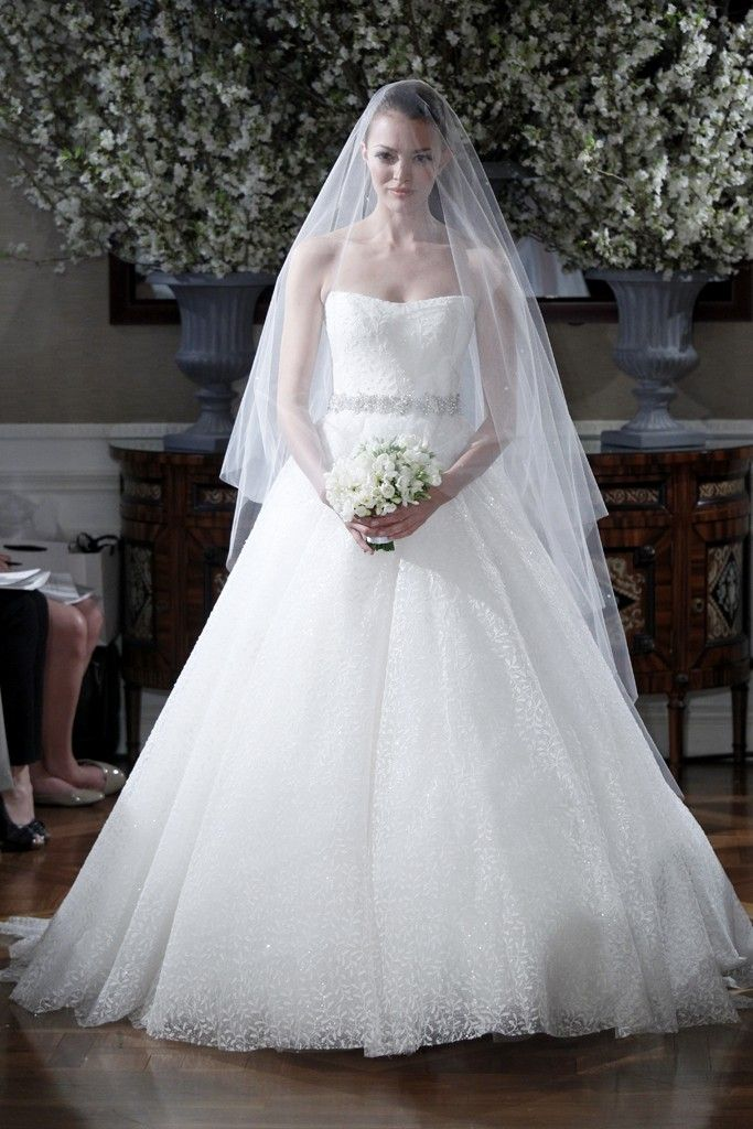 Spring 2013 wedding dress collections Romona Keveza bridal gown romantic lace ballgown