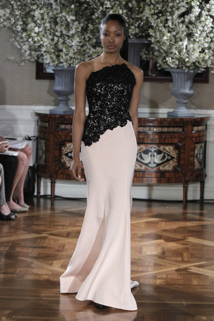 Spring 2013 wedding dress collections Romona Keveza bridal gown black ivory