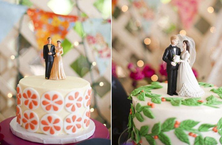 vintage wedding style multiple wedding cakes vintage toppers 1