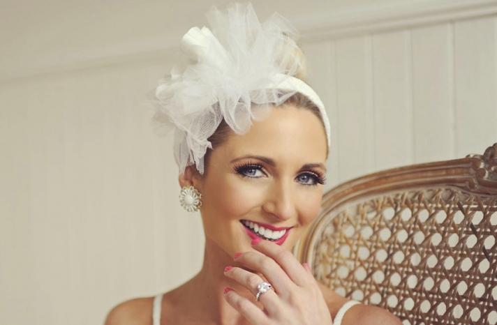 vintage inspired bride chic blossom adorned wedding headband