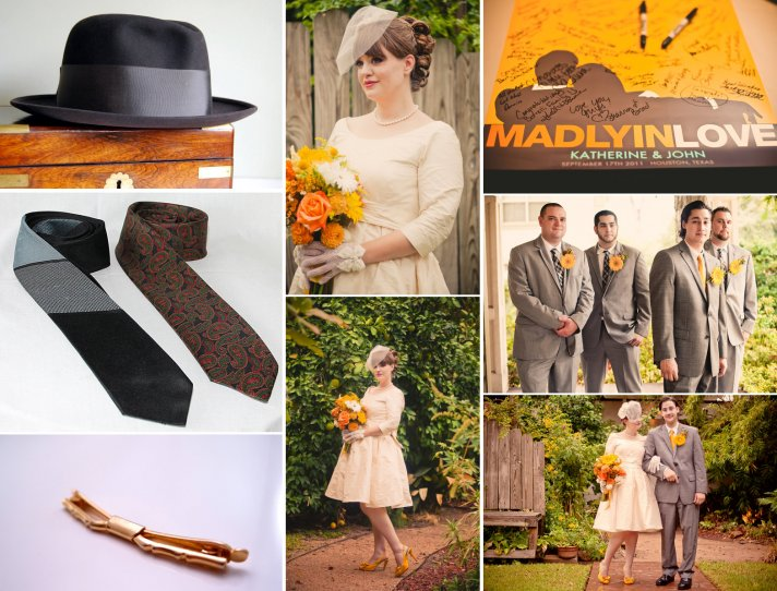 mad men vintage wedding inspiration