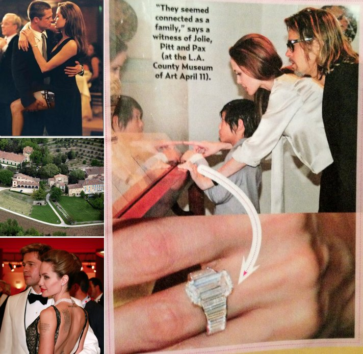 brad pitt angelina jolie engagement ring