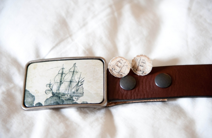 nautical themed real wedding grooms accessories