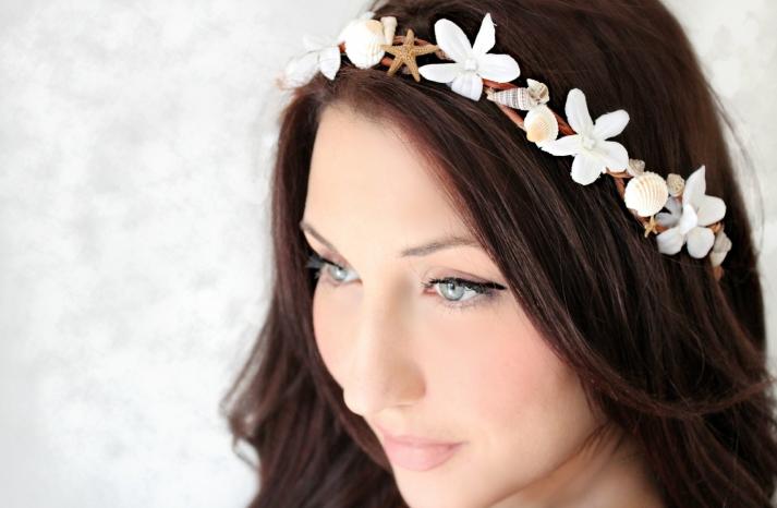 nautical wedding ideas bridal headband wedding hair accessories