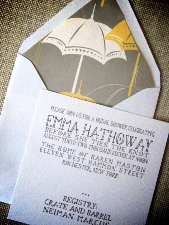 It s Raining Bridal Shower Invitations