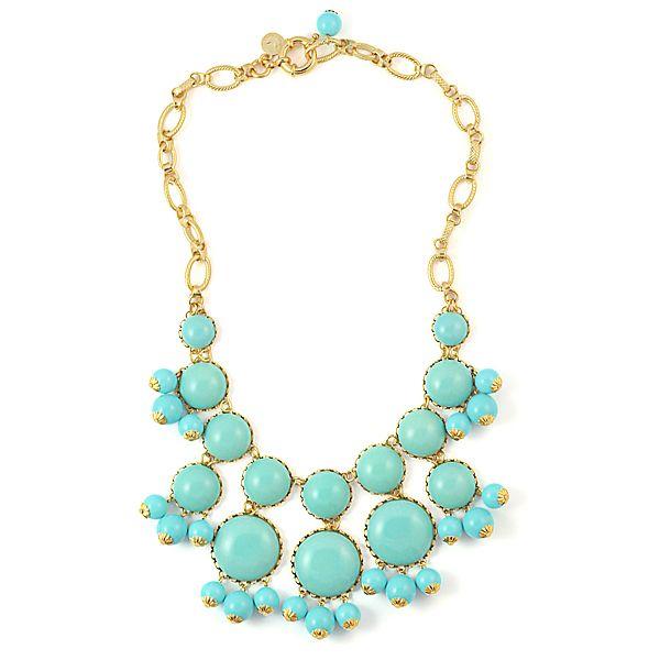 turquoise statement wedding necklace loren hope