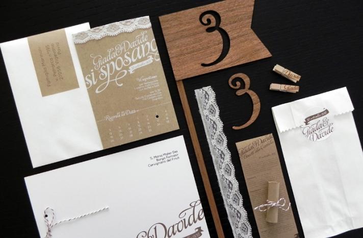 Kraft Paper Lace Wedding Invitations romantic handmade weddings 2