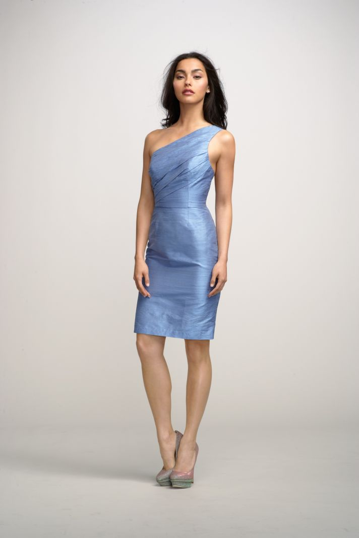 2012 bridesmaids dresses by watters bridesmaid gown blue one shoulder