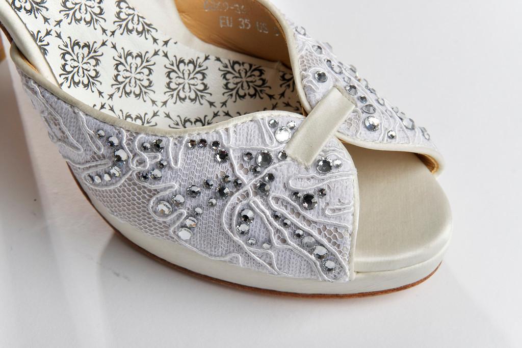 hey lady wedding shoes vintage inspired bridal heels ivory lace embellished