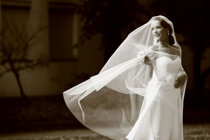wedding style fashion trends 2013 bridal accessories drop veil 3