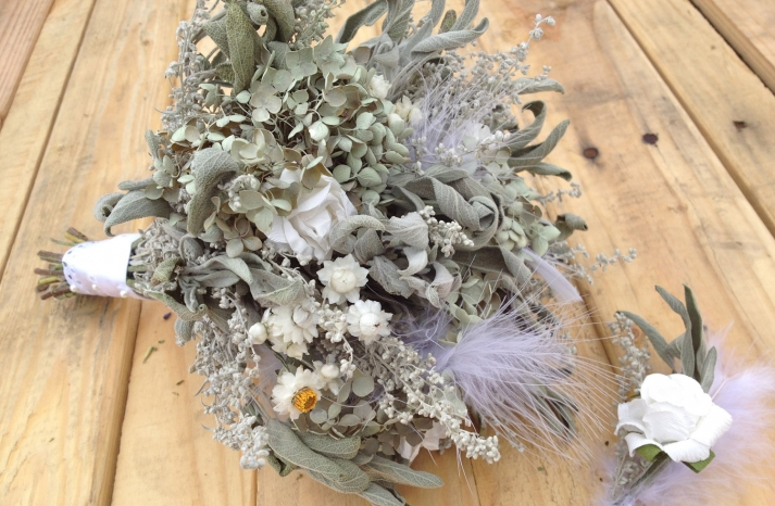 etsy wedding treasures for your handmade wedding glam feathers dried bridal bouquet