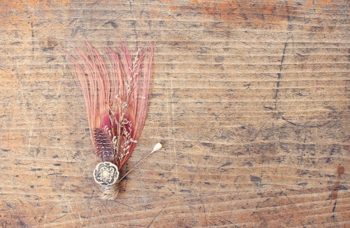 etsy wedding treasures for your handmade wedding glam feathers pink grooms bout