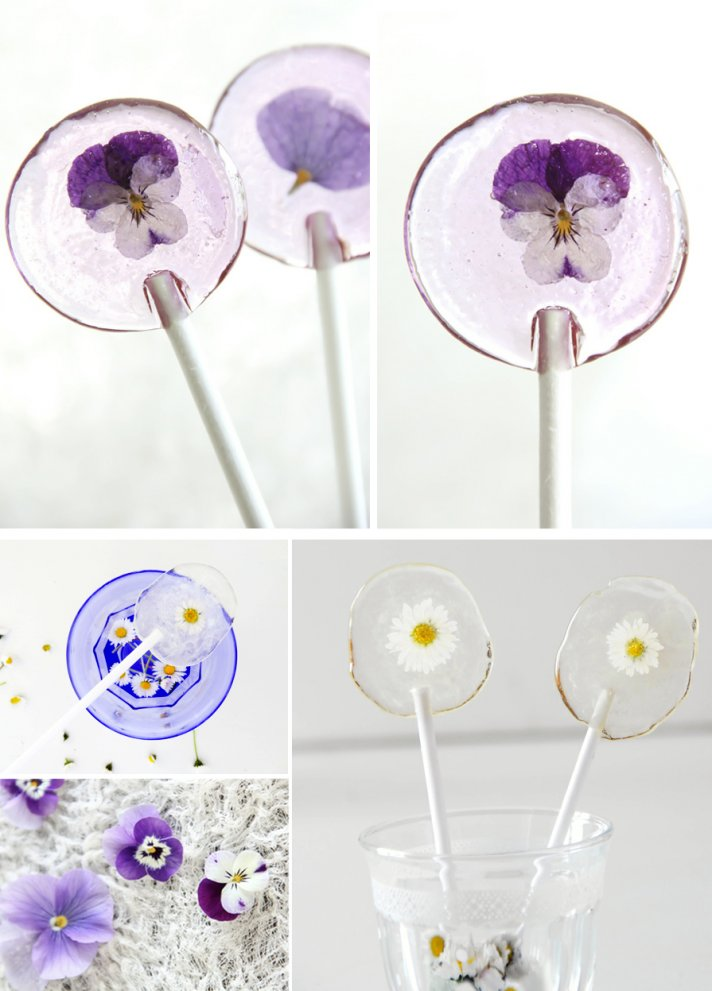 wedding guest favors DIY floral filled lolipops