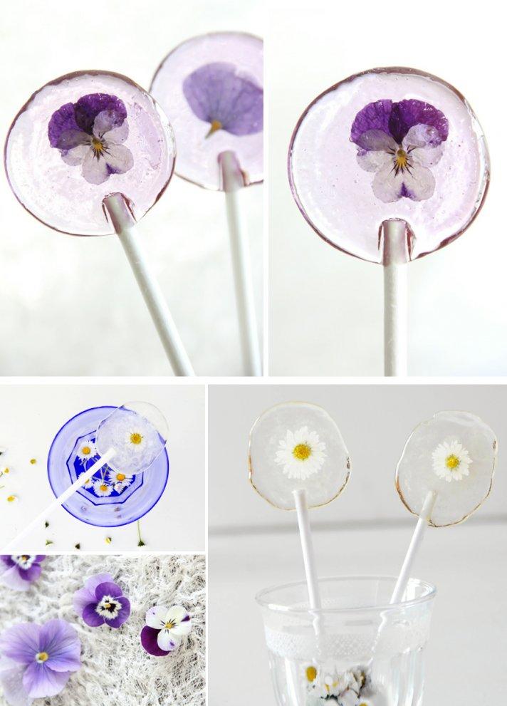 wedding guest favors DIY floral filled lolipops