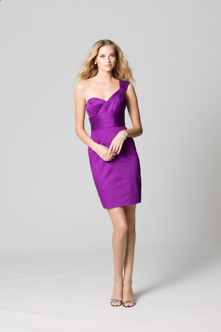 affordable bridesmaids dresses Fall 2012 WTOO by Watters bridal party fuschia 2