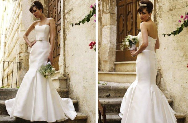 vintage inspired wedding dress stephanie allin grecian classic ivory mermaid with bridal belt
