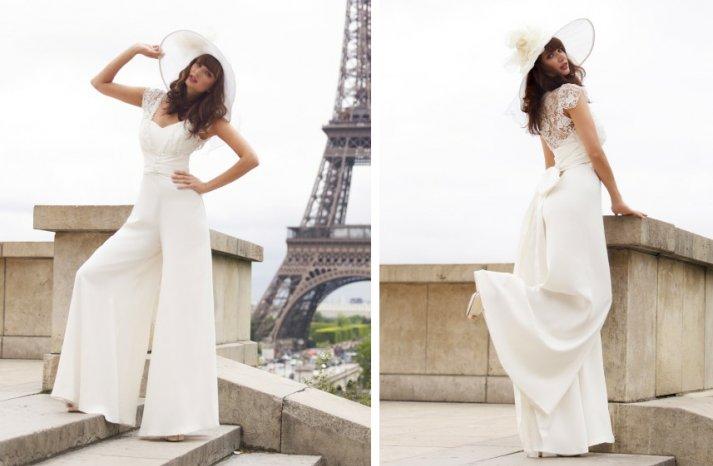 vintage inspired wedding dress stephanie allin bridal pants lace bolero
