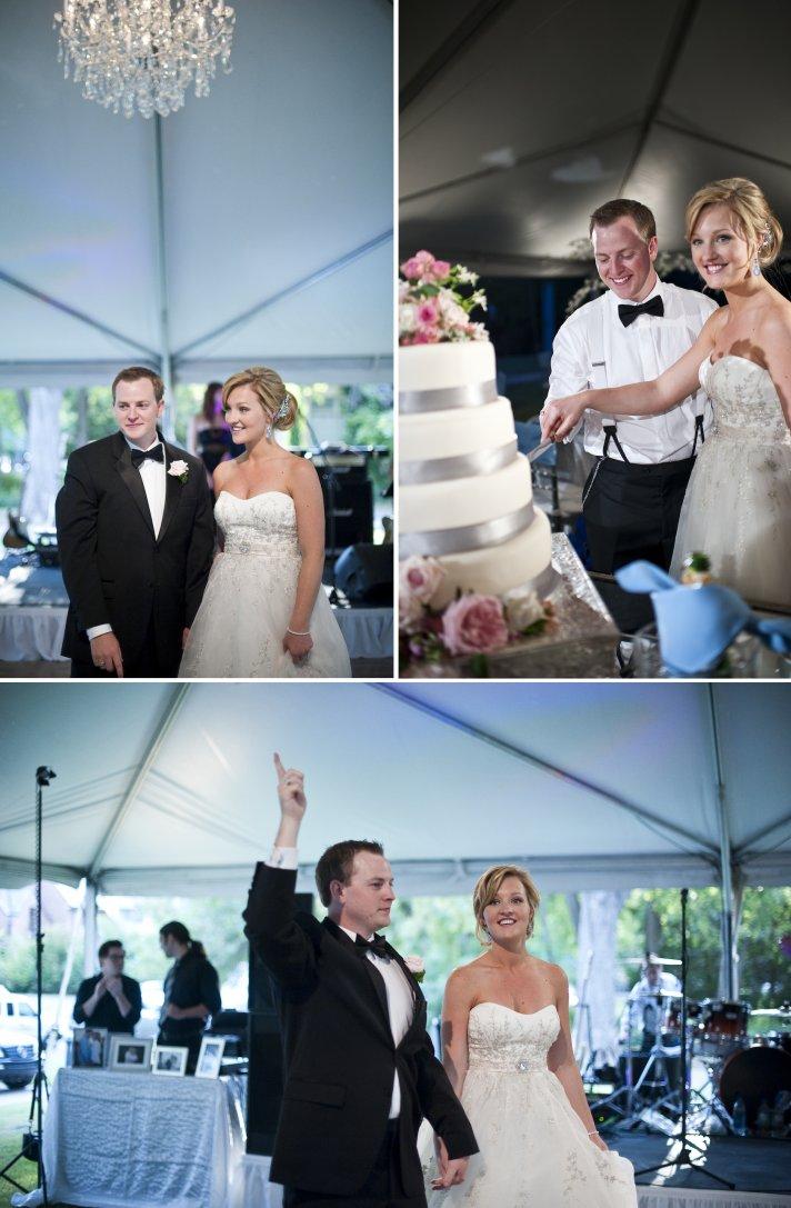 classic real wedding elegant fall reception bride groom tent wedding venue