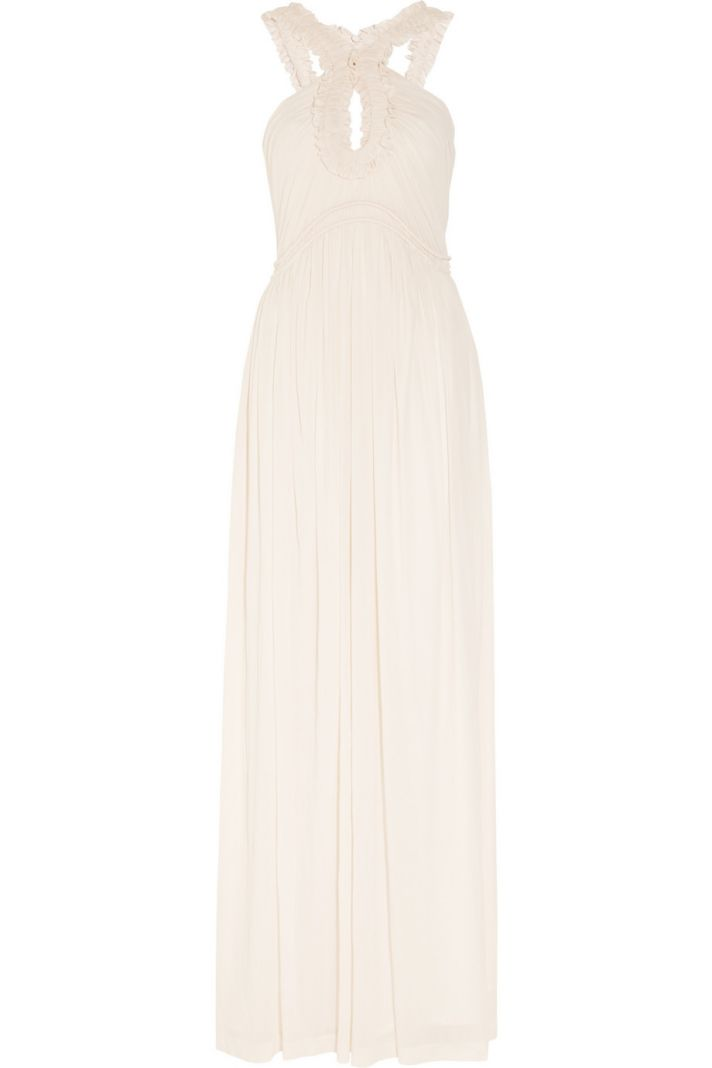 creamy blossom wedding dress by alexander mcqueen