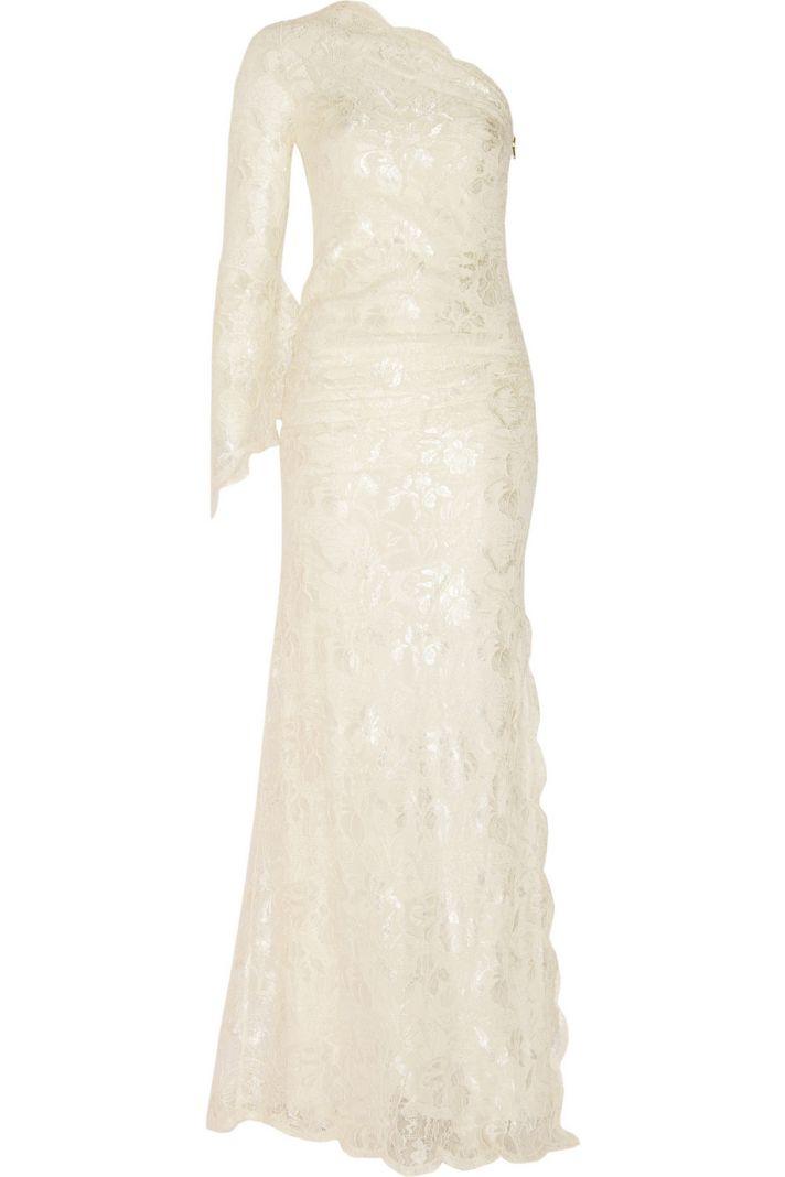 emilio pucci one shoulder wedding dress