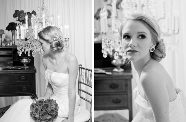 vintage wedding hairstyle low twisted bridal bun