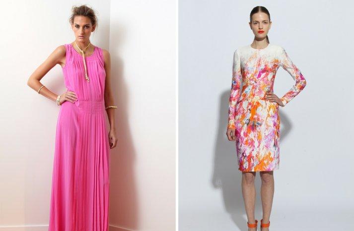 bubble gum pink and watercolor florals wedding inspiration for romantic brides
