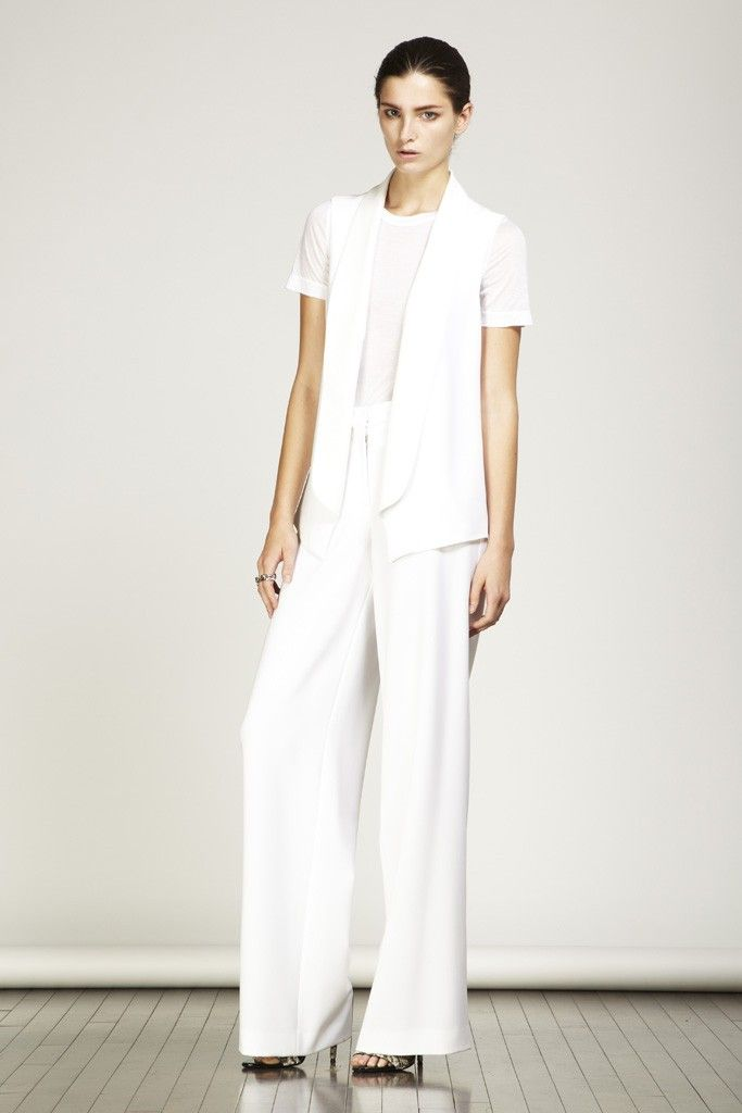 White Pants Suits For Women With Simple Picture In Singapore ...