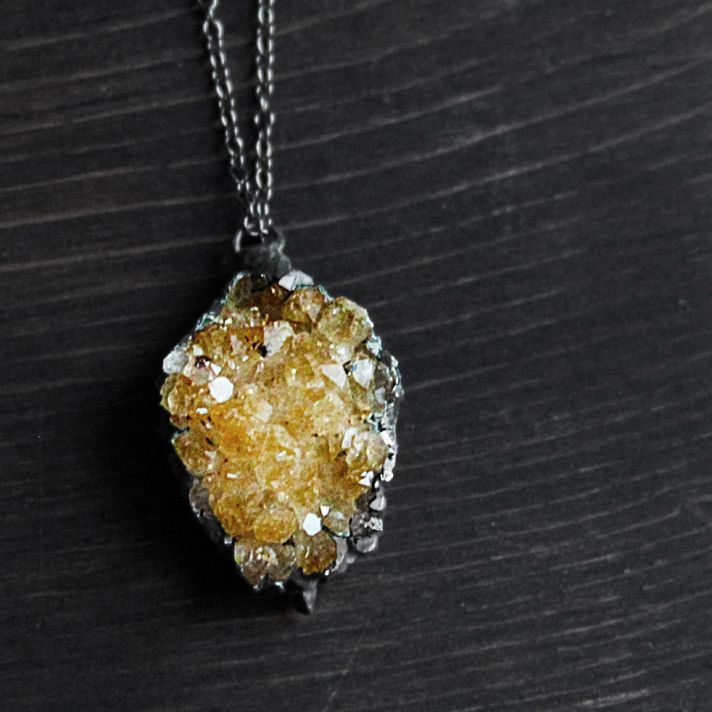 citrine necklace for bridesmaids