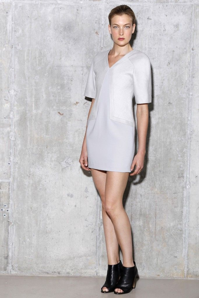 v neck LWD for wedding reception with sleeves by jason wu