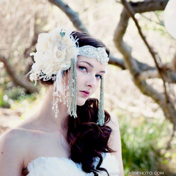bohemian bride wedding headdress 1