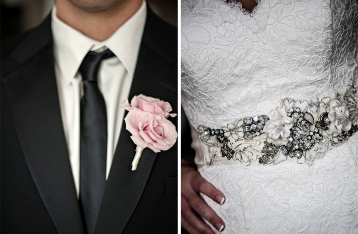 wedding photography detail shots bridal sash grooms bout