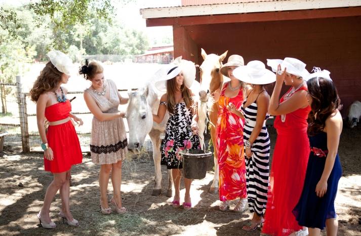 rustic kentucky derby bridal shower theme mix n match bridesmaids