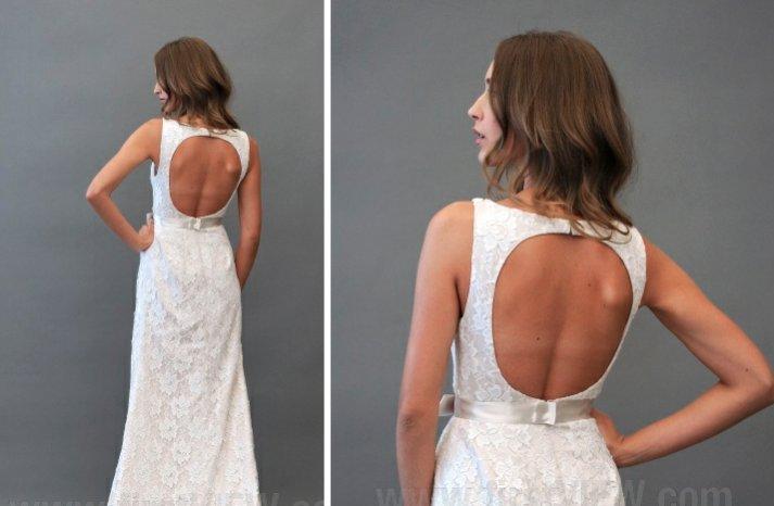 Blush 2013 wedding dress statement back bridal gowns 2