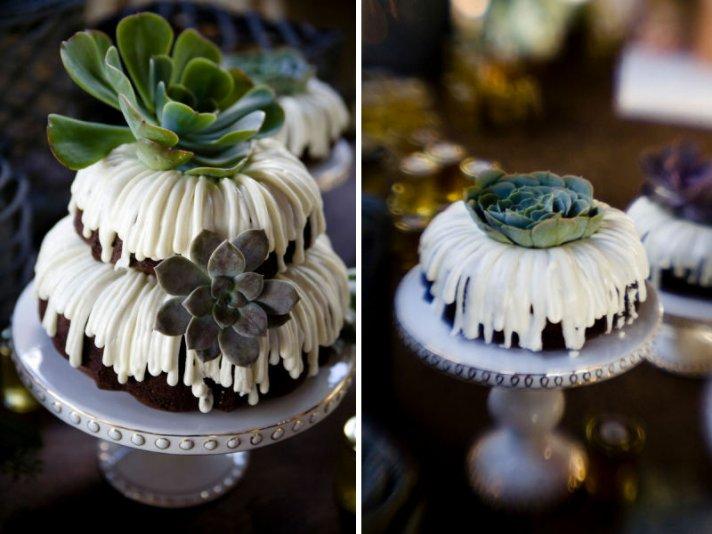 unique wedding cakes non cake reception desserts bundt cake with succulents