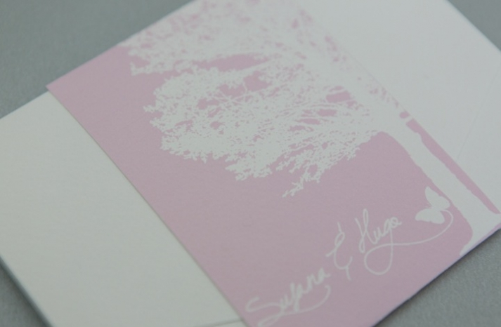 pink and sweet wedding invitations