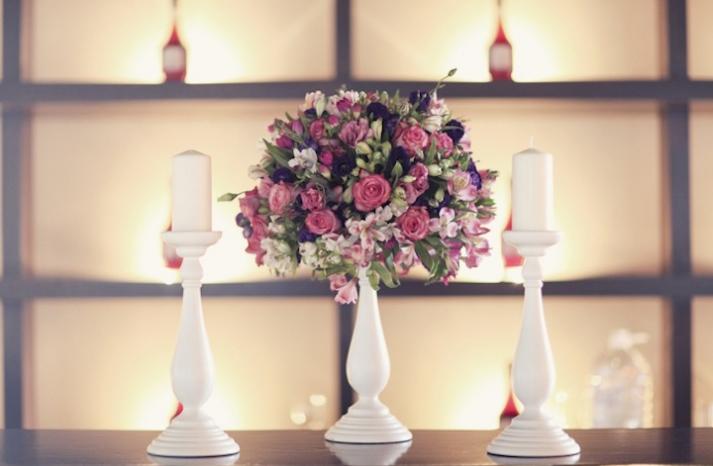 pink purple wedding centerpiece elegant european wedding 1