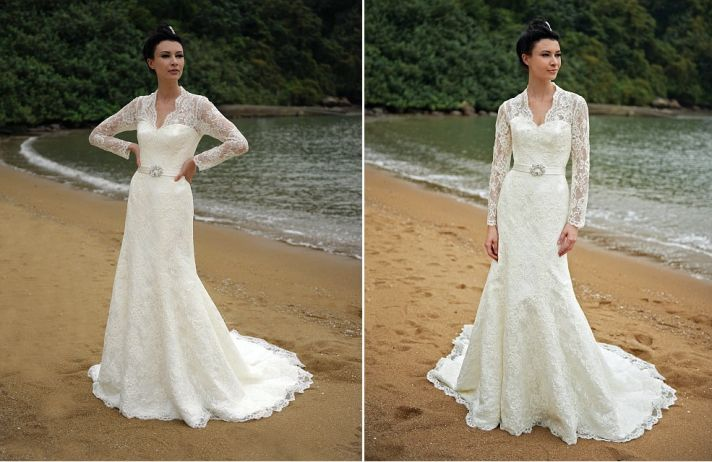 beach bride wedding dresses Augusta Jones bridal gowns lace 1
