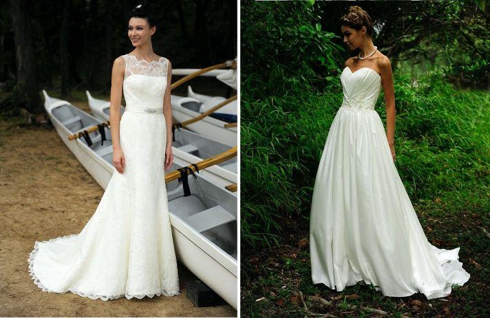beach bride wedding dresses Augusta Jones bridal gowns classic lace