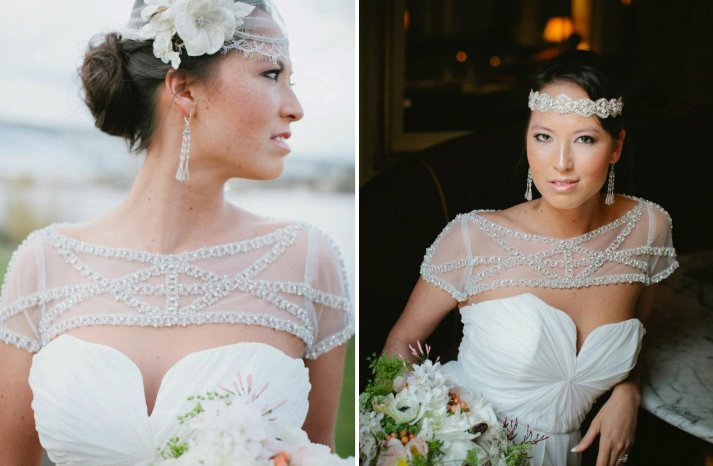 sheer wedding accessories bridal bolero