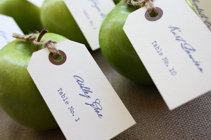 handmade wedding escort cards Etsy wedding stationery elegant vintage with fruit