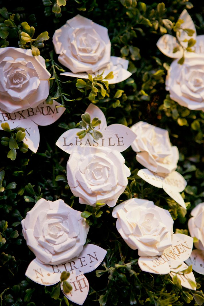 handmade escort cards rosettes
