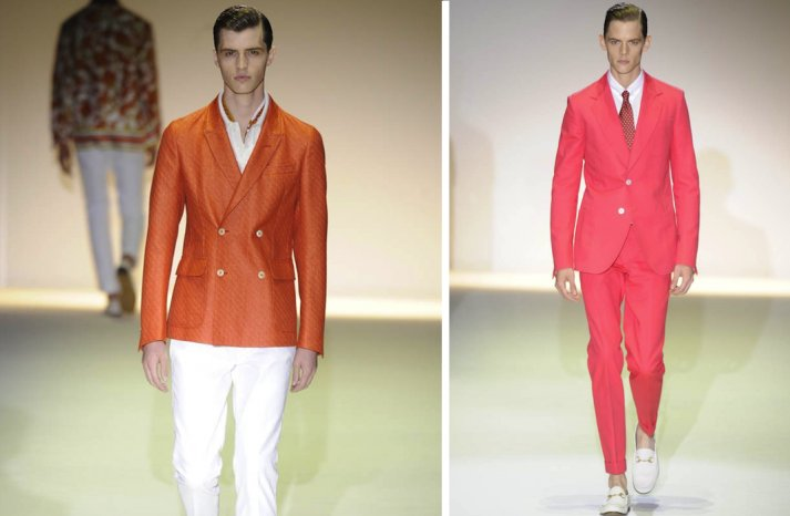 grooms style inspiration 2012 weddings Gucci orange pink white