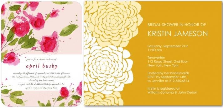 elegant bridal shower invitations roses pink yellow